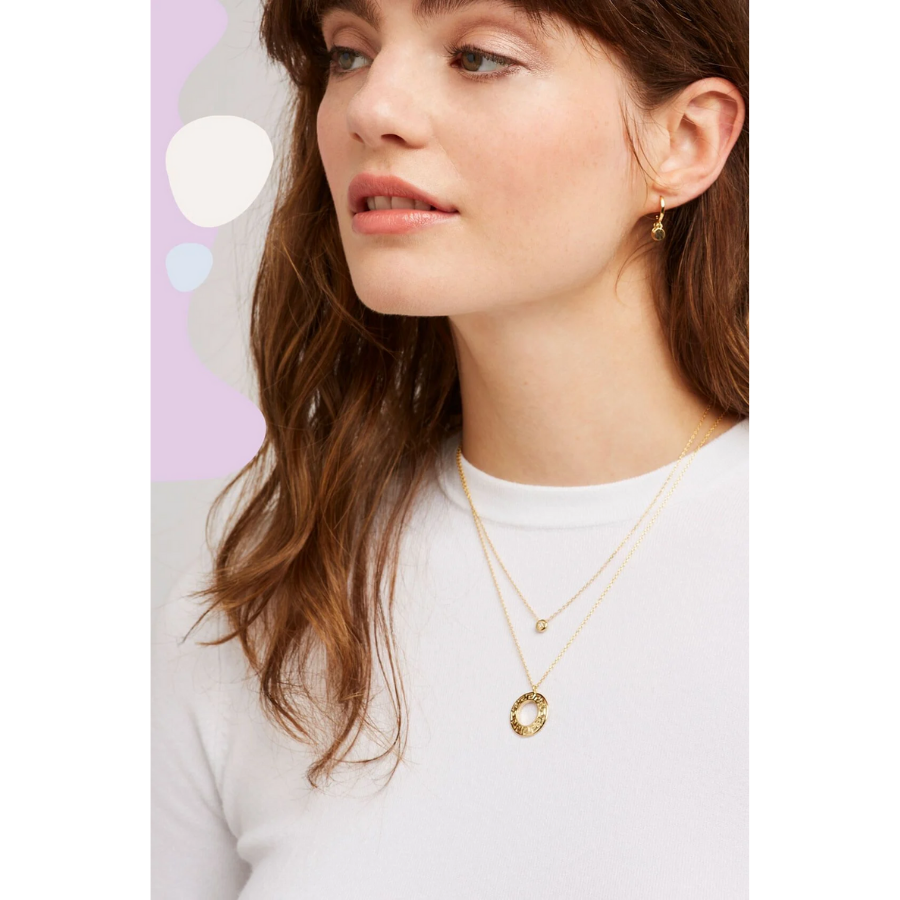 Estella Bartlett - Chubby Round CZ Necklace - HAYGEN