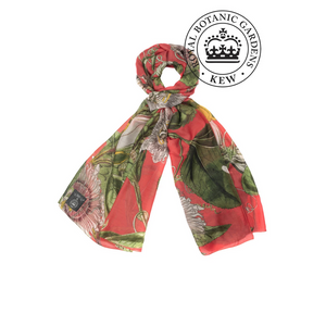 One Hundred Stars - KEW Scarf - Passion Flower Coral - HAYGEN