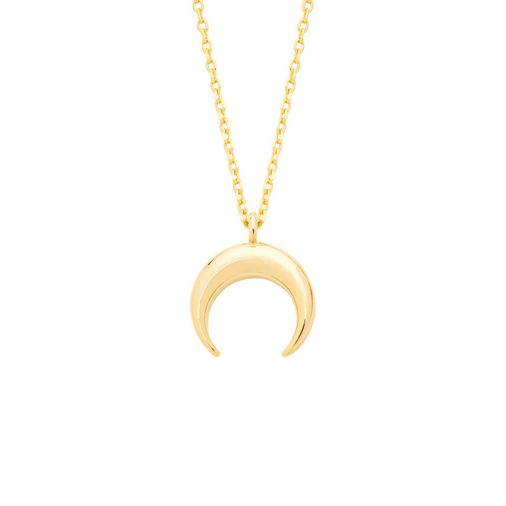 Estella Bartlett - Curved Horn Necklace Gold Plated