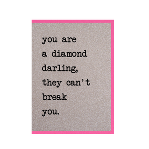 Counting Stars - You Are A Diamond / They Can't Break You Glitter Card
