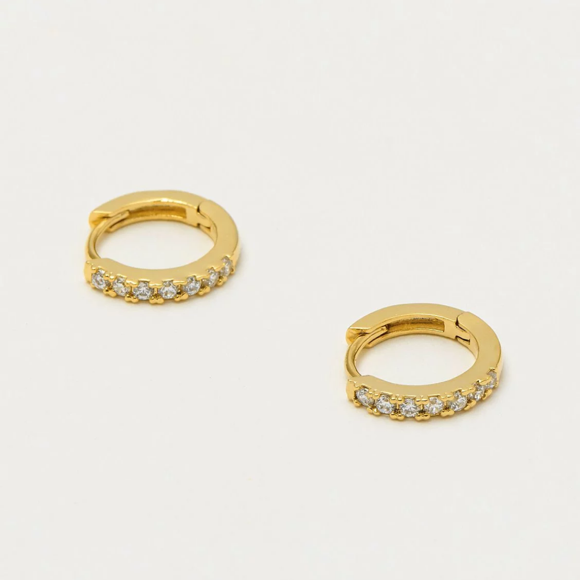 Estella Bartlett - Pave Hoop Earrings Gold Plated - HAYGEN