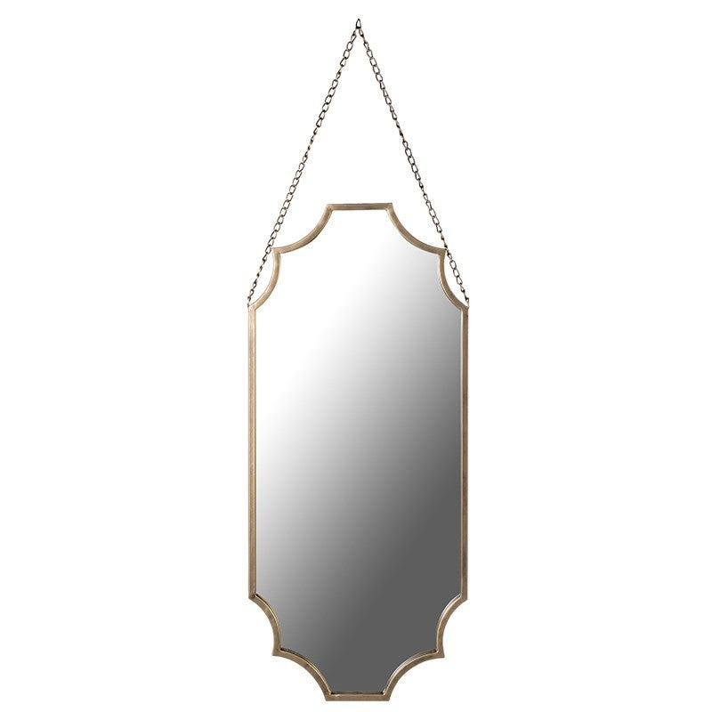 Haygen - MATT GOLD SHAPED WALL MIRROR