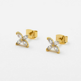 Estella Bartlett - Mini CZ Marquise Flower Studs - HAYGEN