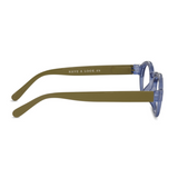 Have a look - Reading glasses circle twist - Blue/Lime - HAYGEN