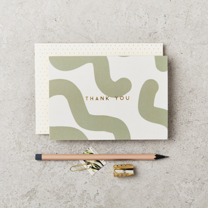 Katie Leamon - Green Mallow Thank you Card