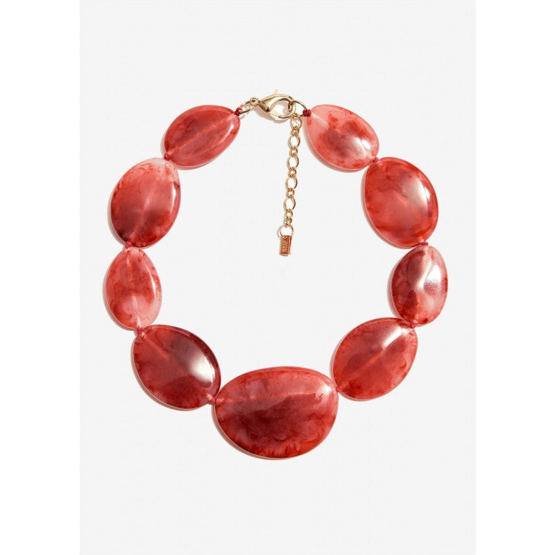 Nali - RED RESIN PEBBLES SHORT NECKLACE