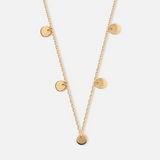 Disc Multi Drop Necklace - HAYGEN
