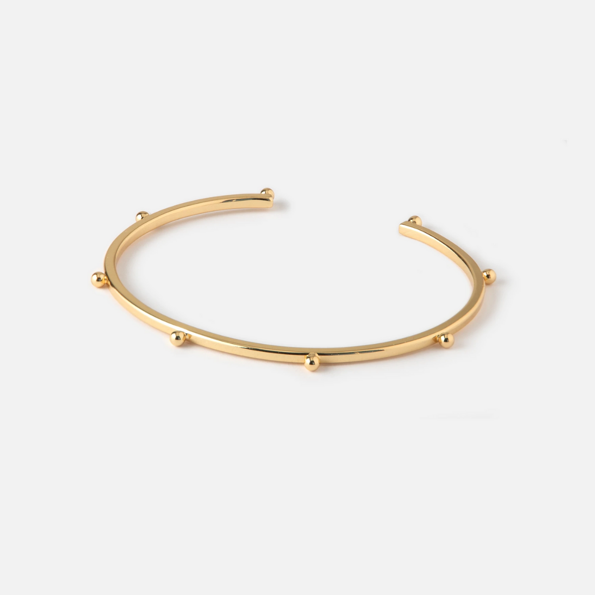 Orelia - Metal Beaded Open Bangle