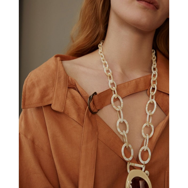 Orris London - Original D Necklace - Pearl White - HAYGEN