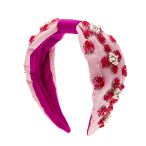 Pink Beaded Headband - HAYGEN