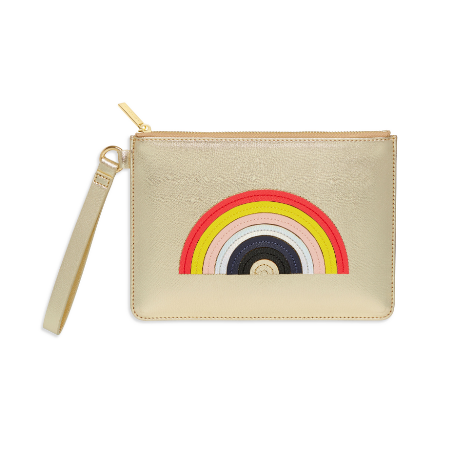 Estella Bartlett - Medium Pouch w/Handle - Gold RAINBOW - HAYGEN