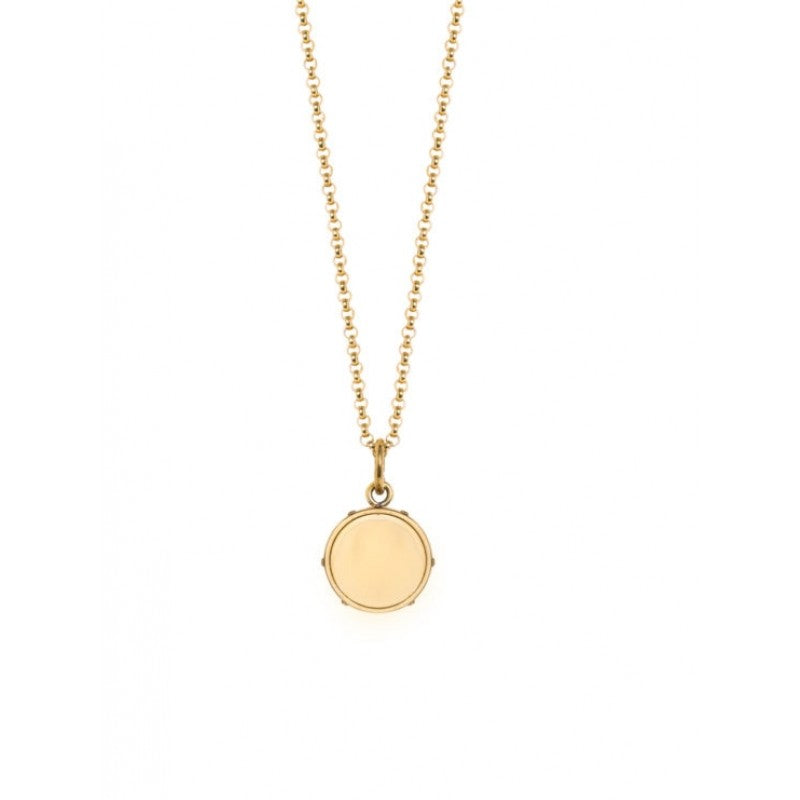 Tilly Sveaas - Small Gold Disc On Belcher Chain - 50cm - HAYGEN