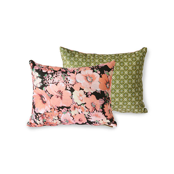 HKliving - Printed Floral Cushion - HAYGEN