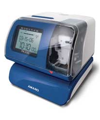 Amano PIX-200 Electronic Time Clock/Date Stamp