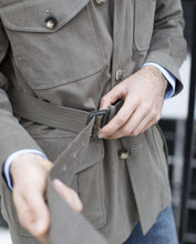 Load image into Gallery viewer, The Brushed Cotton Belted Safari Jacket
