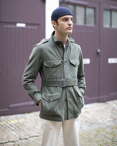 The Brushed Cotton Belted Safari Jacket