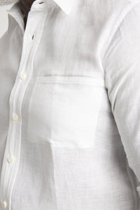 Plain Collar Linen Shirt