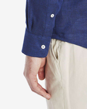 The Linen Grandad Collar Shirt