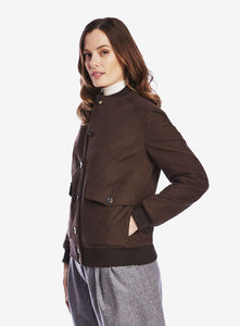 Ladies Moleskin Bomber Jacket