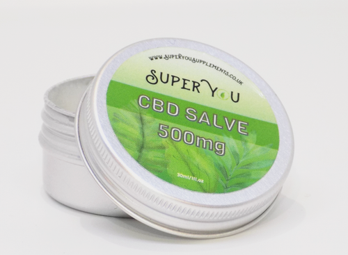 Super You CBD oil massage salve cream broad spectrum MCT oil. 30ml 500mg coconut shea butter green tea seaweed
