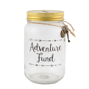 ADVENTURE FUND JAR MONEY BOX