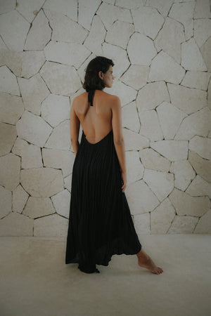 Low Back Halter Tie Dress | Mahahual