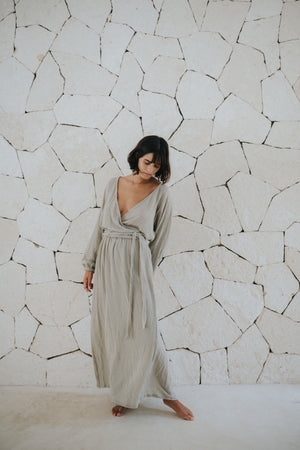 Kimono Cotton Gauze Dress | Chechén