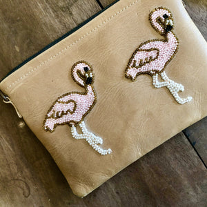 Flamingo clutch Bag