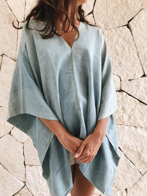 Oaxaca Poncho | Light Blue