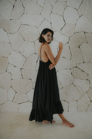 Ruffle Maxi Dress | Sian Kaan Long