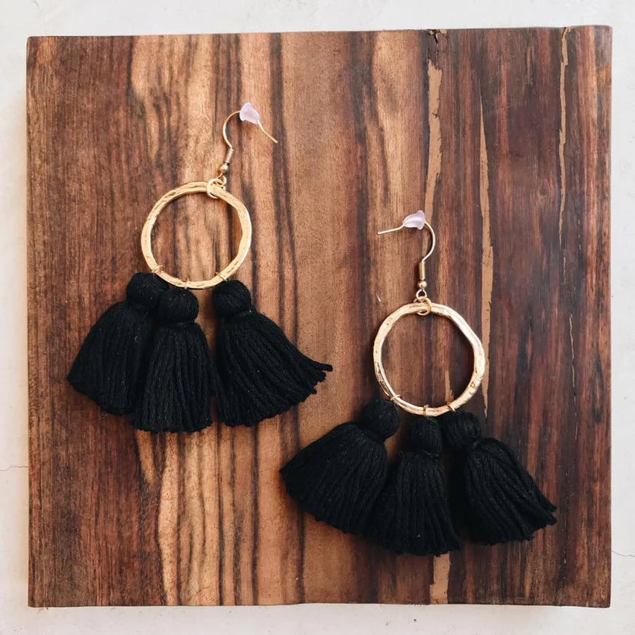 tassels, tassel earrings, tassel earrings gold, tassel earrings diy, gold hoops