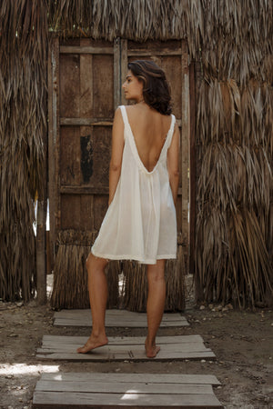 Bacalar Dress Short  | Cotton