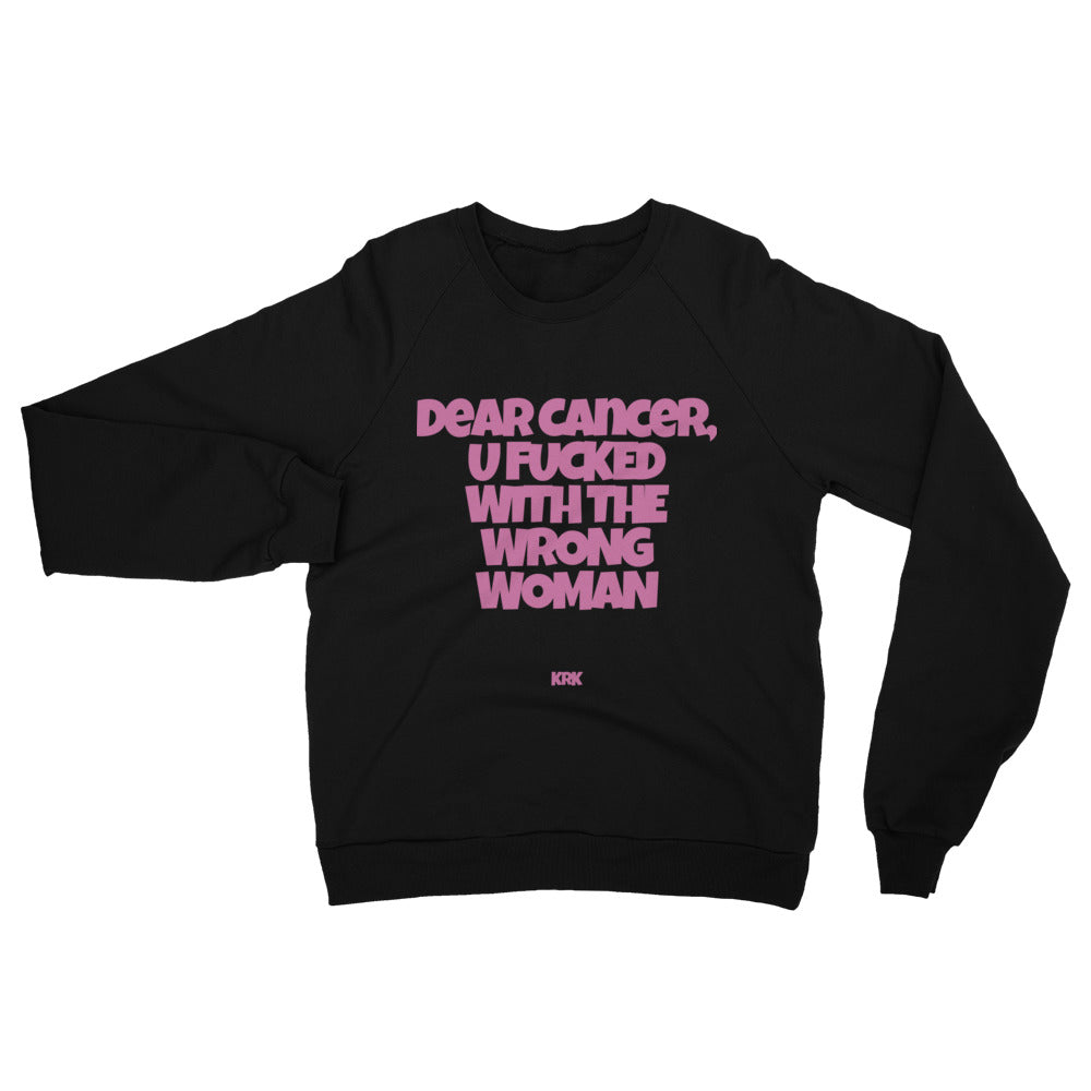 DEAR CANCER California Fleece Raglan Sweatshirt (Unisex)
