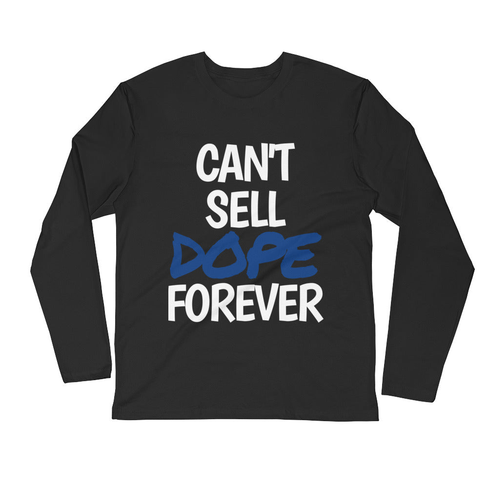 Blue DOPE Long Sleeve Fitted Crew (Black)