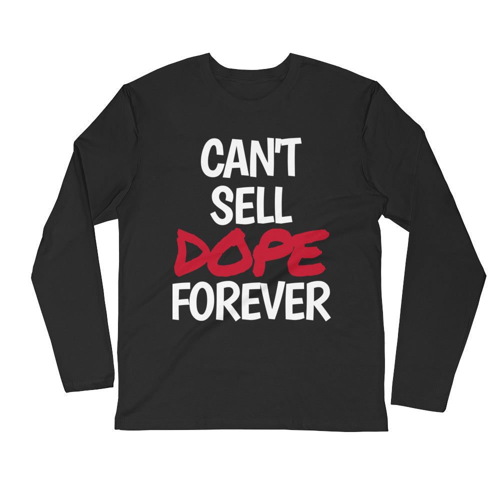 Red DOPE Long Sleeve Fitted Crew (Black)