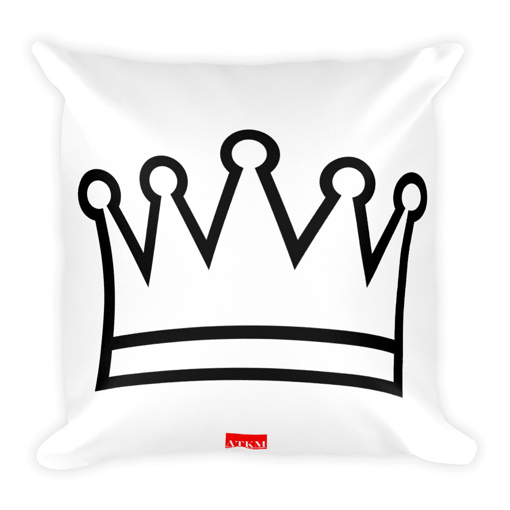 ATKM Crown Label Throw Pillow