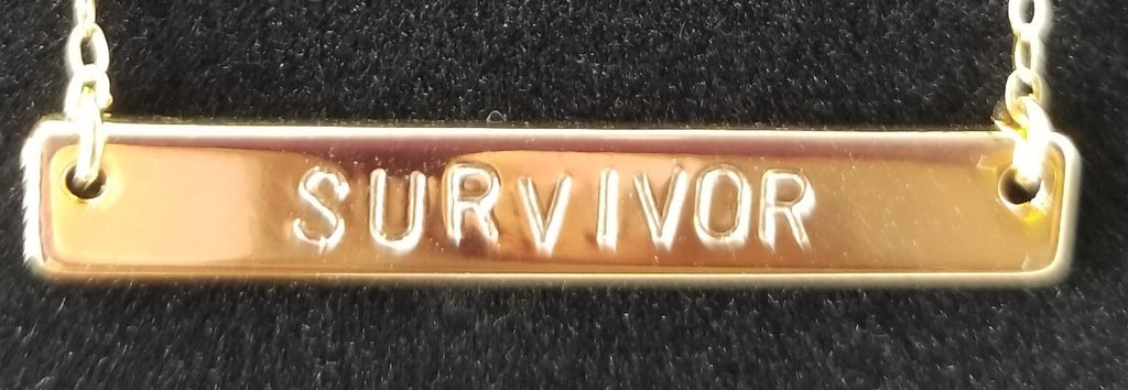 "14k Gold Plated SURVIVOR 18"" Necklace"