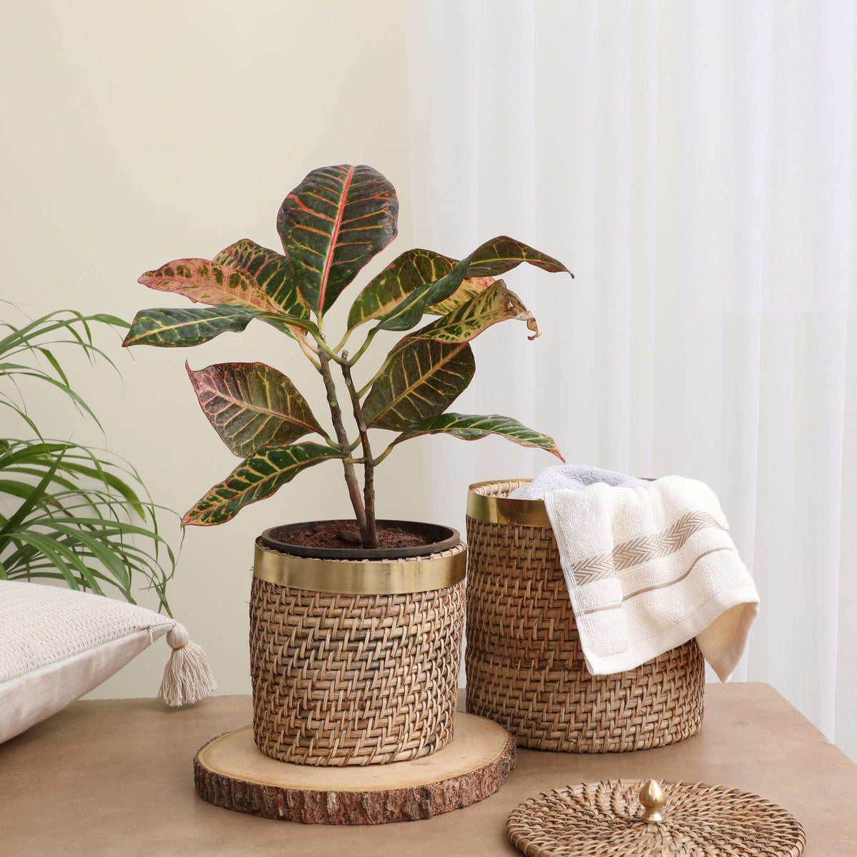 Organic Wicker Basket- Set of 2