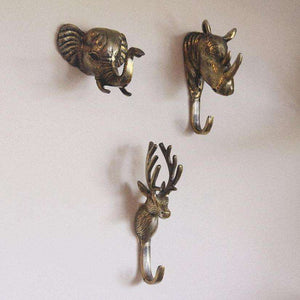Majestic Animal Hooks - Set of 3 Wall Decor apartment18
