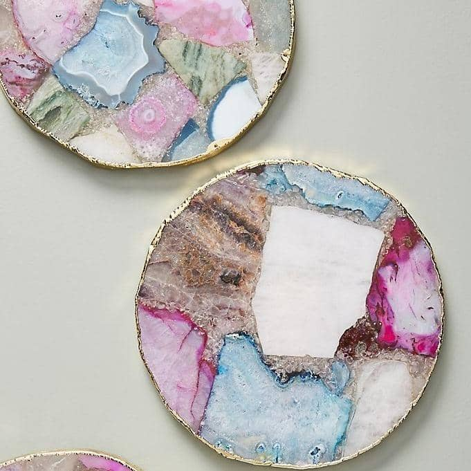 Jewel Agate Coasters- Set of 4