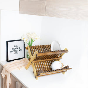 Natural Wooden Dish Rack