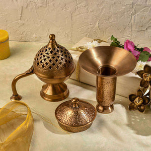 Festive Brass Gift - Set of 4