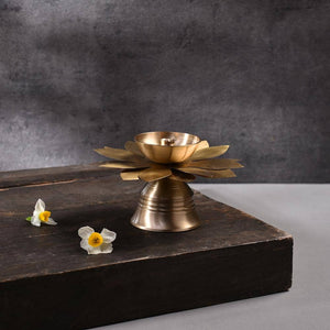 Lotus Brass Incense Holder