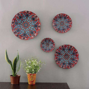 Turkish Paisley Wall Plates- Set of 4 - apartment18