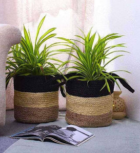 Multipurpose Organic Jute Basket- Set of 2 - apartment18