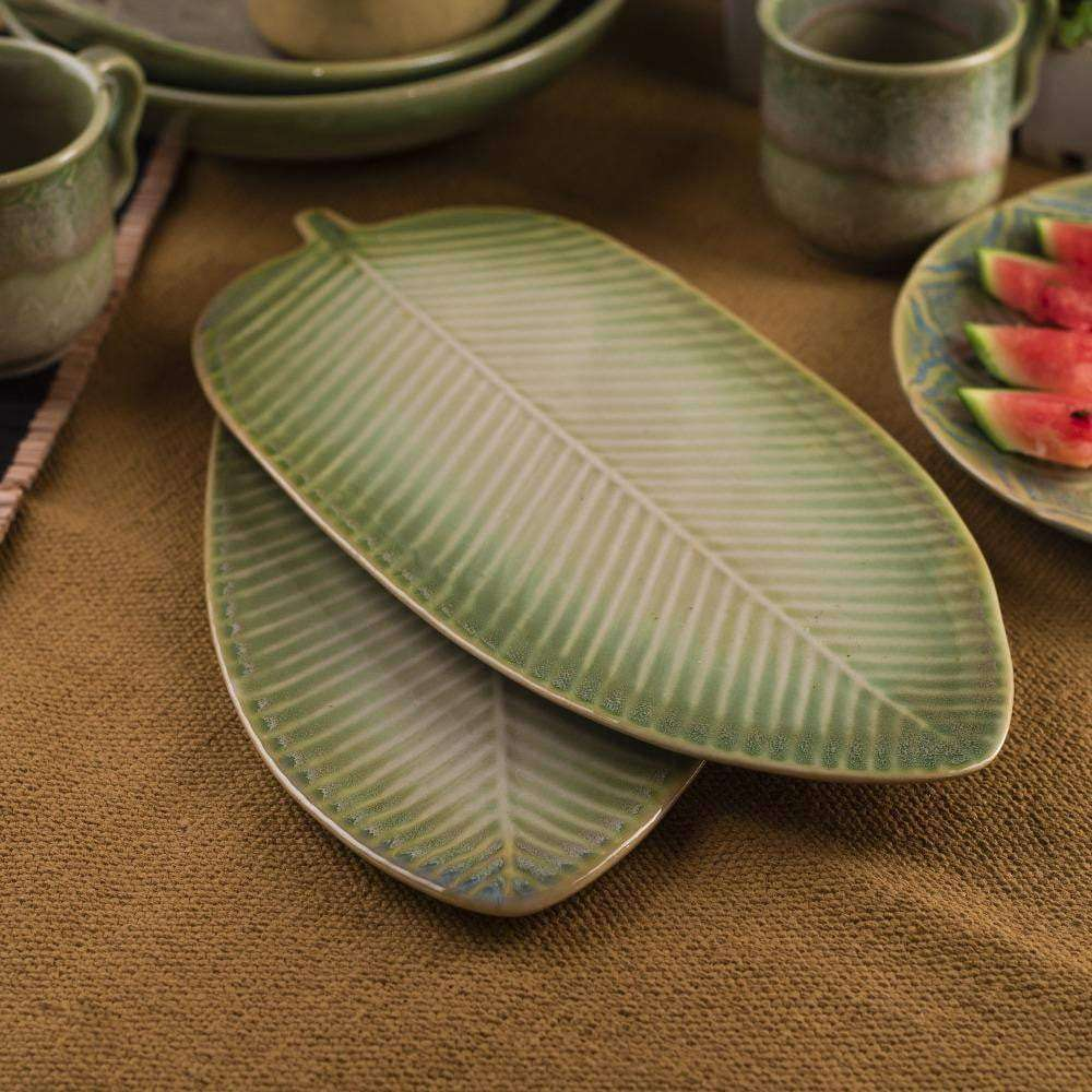 Olive Leaf Platter - Set of 2 - apartment18
