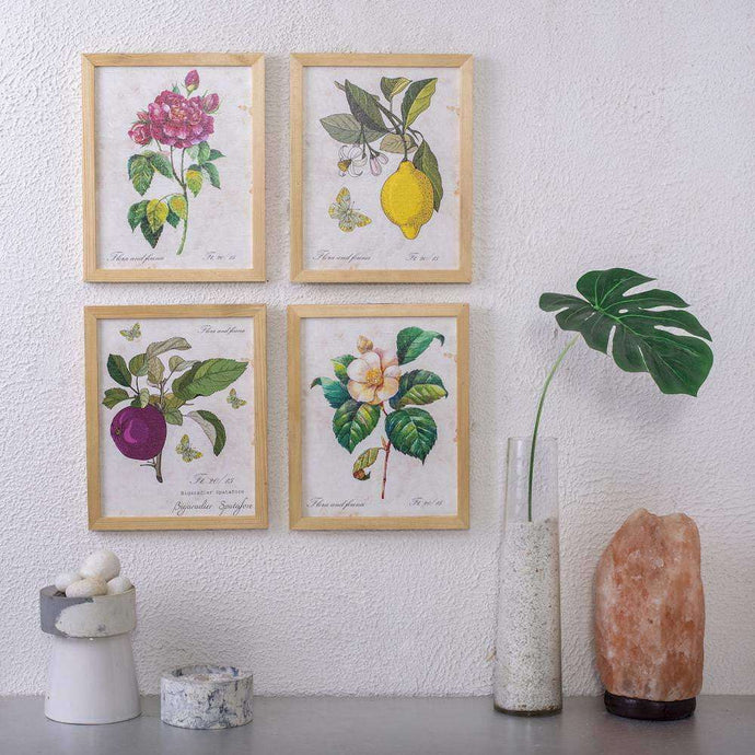 English Floral Wall Art - Set of 4 - apartment18