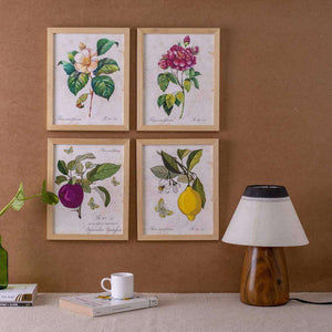Botanical Wall Art - Set of 4