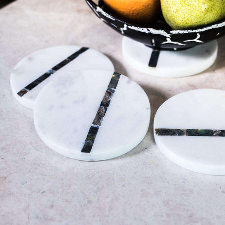 Taj Marble Coasters - Set of 4 apartment18