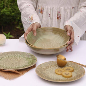 Olive Leaf Plates - Set of 6